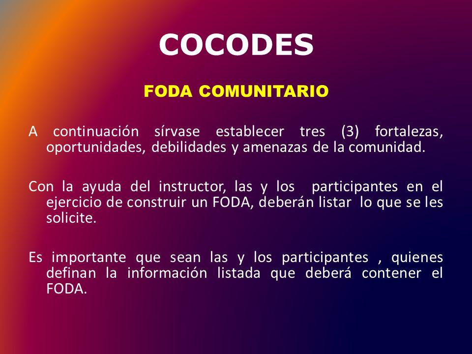 COCODES DEBILIDADES: Falta de interés del personal docente en capacitarse en distintos temas educativos.