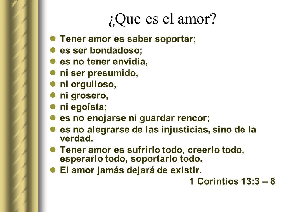 ¿Que es el amor.