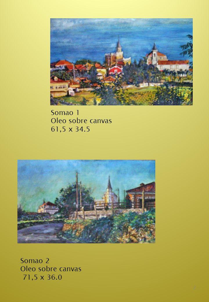 3 La Casa Amarilla Medio mixto sobre canvas 61,5 x 46,0 Hórreo con flores Medio mixto sobre canvas 61,5 x50,0