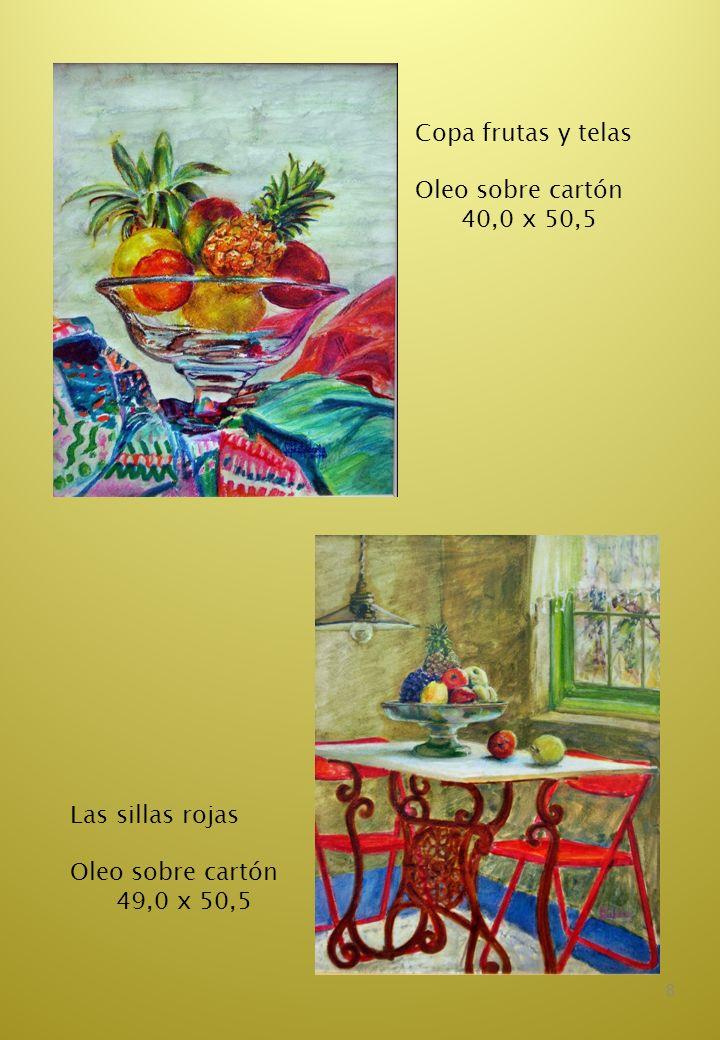 9 Lascas de melón Oleo sobre tela 46,5 x 30,5 Bodegón de hortalizas Oleo sobre tela 30,0 x 38,5
