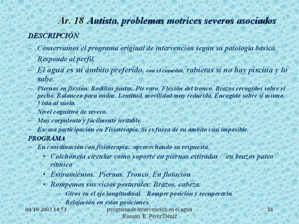 26programa de intervención en el agua Román E. Pérez Déniz