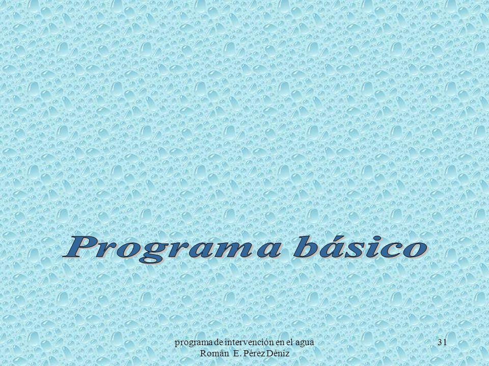 31programa de intervención en el agua Román E. Pérez Déniz