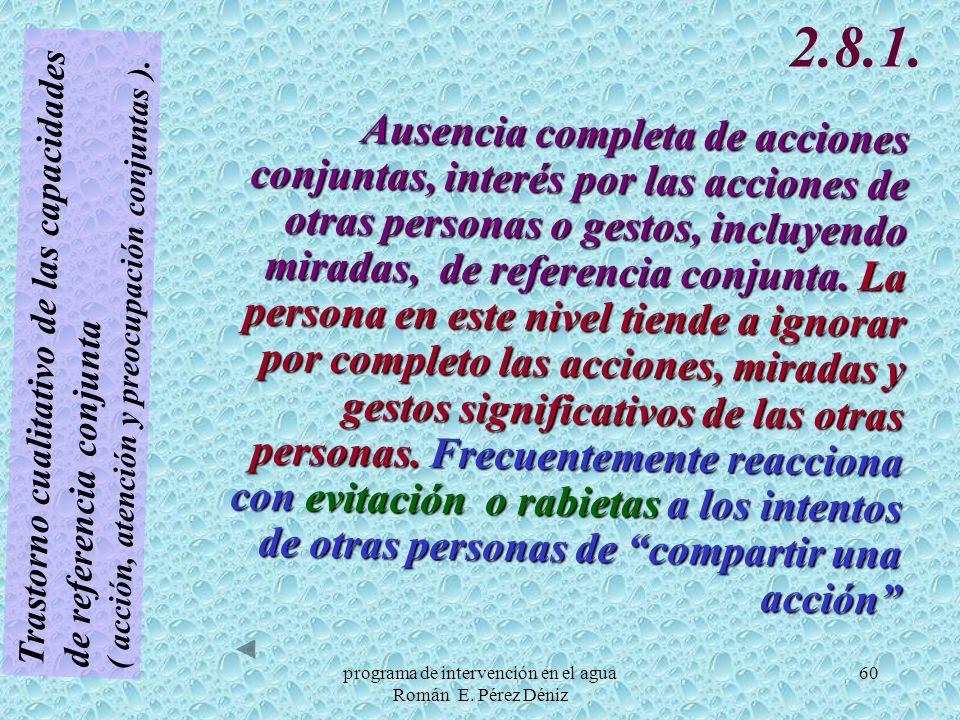 60 Trastorno cualitativo de las capacidades de referencia conjunta ( acción, atención y preocupación conjuntas ). 2.8.1. Ausencia completa de acciones
