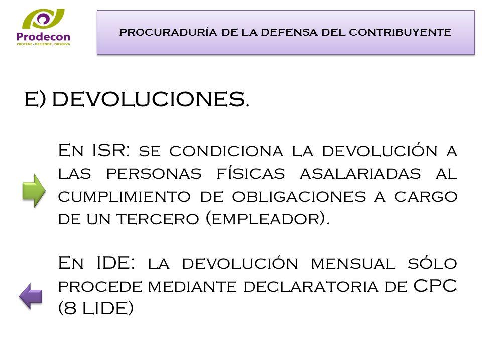 En ISR: se condiciona la devolución a las personas físicas asalariadas al cumplimiento de obligaciones a cargo de un tercero (empleador).