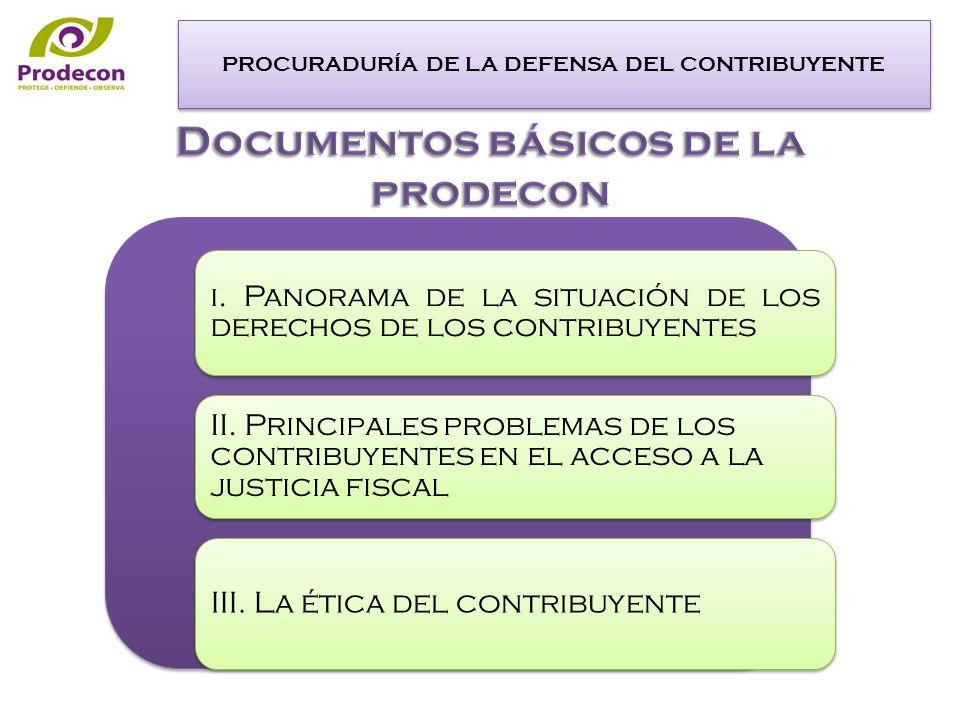 PROCURADURÍA DE LA DEFENSA DEL CONTRIBUYENTE i.