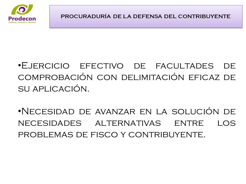 Ejercicio efectivo de facultades de comprobación con delimitación eficaz de su aplicación.