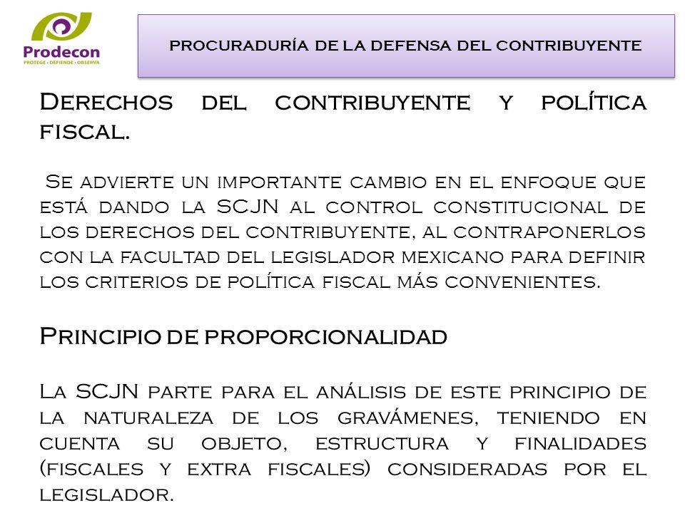 Derechos del contribuyente y política fiscal.