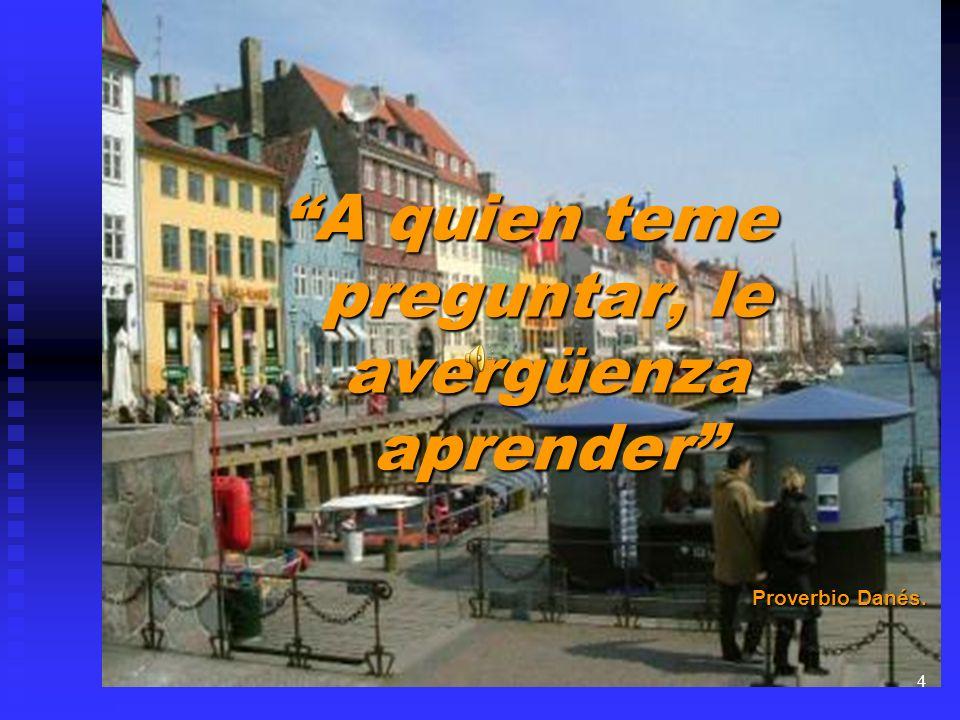 A quien teme preguntar, le avergüenza aprender Proverbio Danés. 4