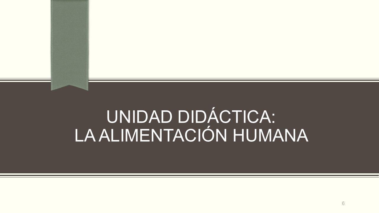 UNIDAD DIDÁCTICA: LA ALIMENTACIÓN HUMANA 6