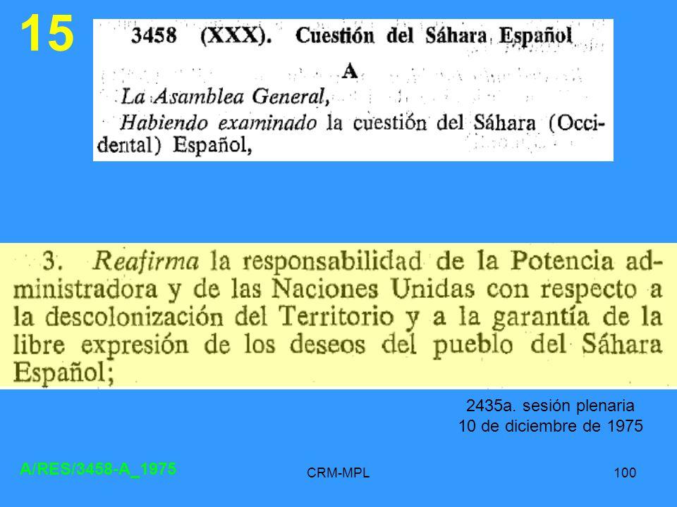 CRM-MPL100 15 A/RES/3458-A_1975 2435a. sesión plenaria 10 de diciembre de 1975
