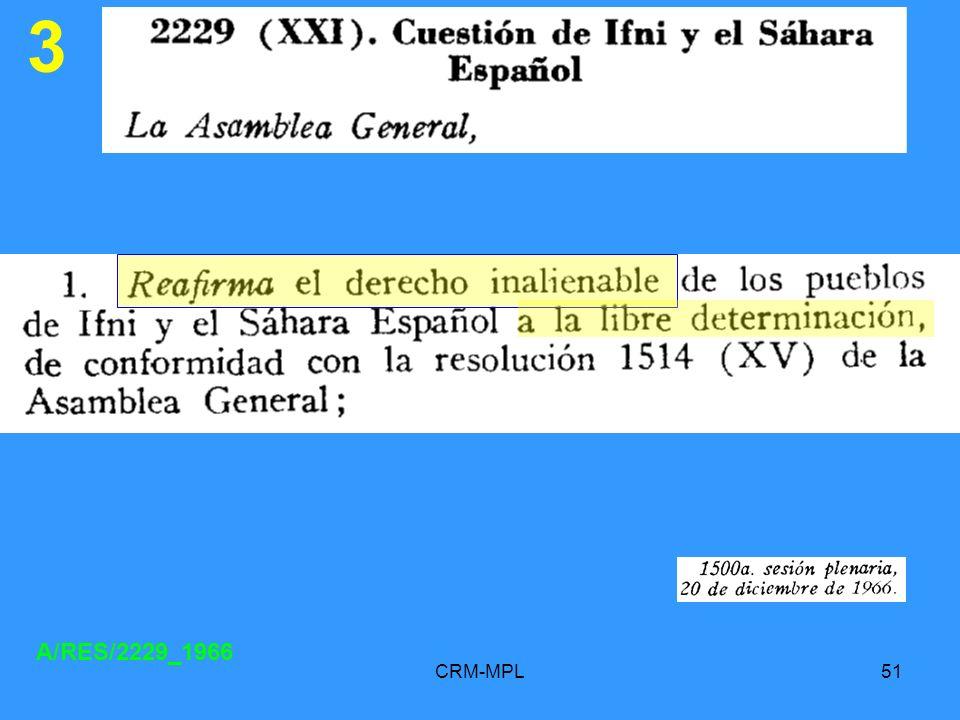 CRM-MPL51 3 A/RES/2229_1966