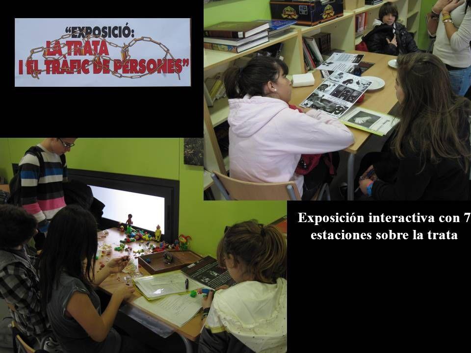 Exposición interactiva con 7 estaciones sobre la trata