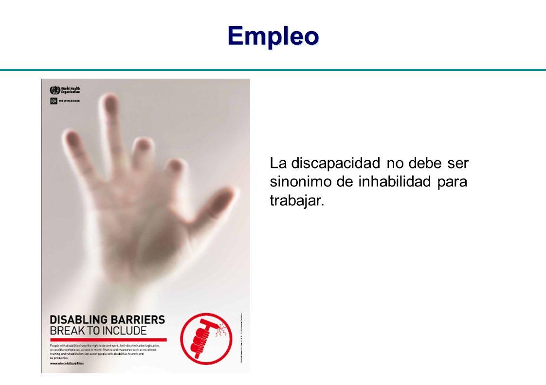 | Empleo La discapacidad no debe ser sinonimo de inhabilidad para trabajar.
