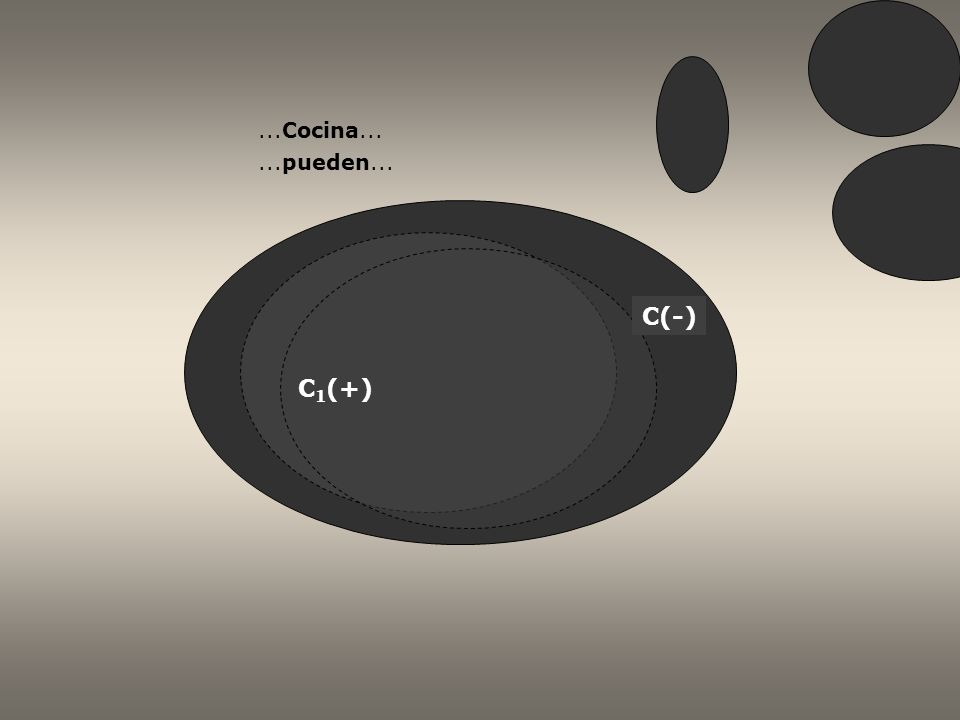 C(-) C 1 (+)...cocina tradicional... Ustedes pueden ir...