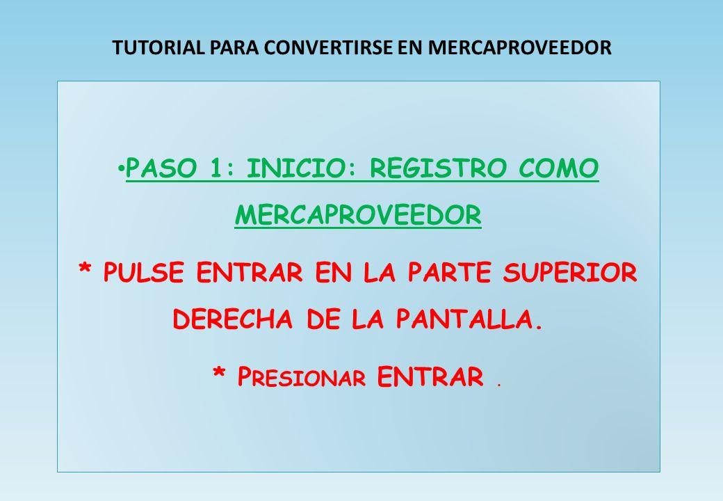 PASO 1: Registro Con Email «Como VENDER mis productos en WWW.MERCAEXTREMADURA.COM» Ser MERCA - PROVEEDOR en 10 PASOS ……