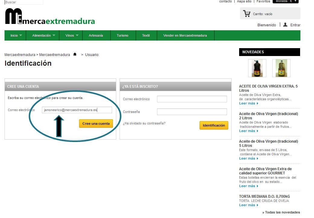 TUTORIAL PARA CONVERTIRSE EN MERCAPROVEEDOR * PASO 3: CREE SU CUENTA DE REGISTRO.