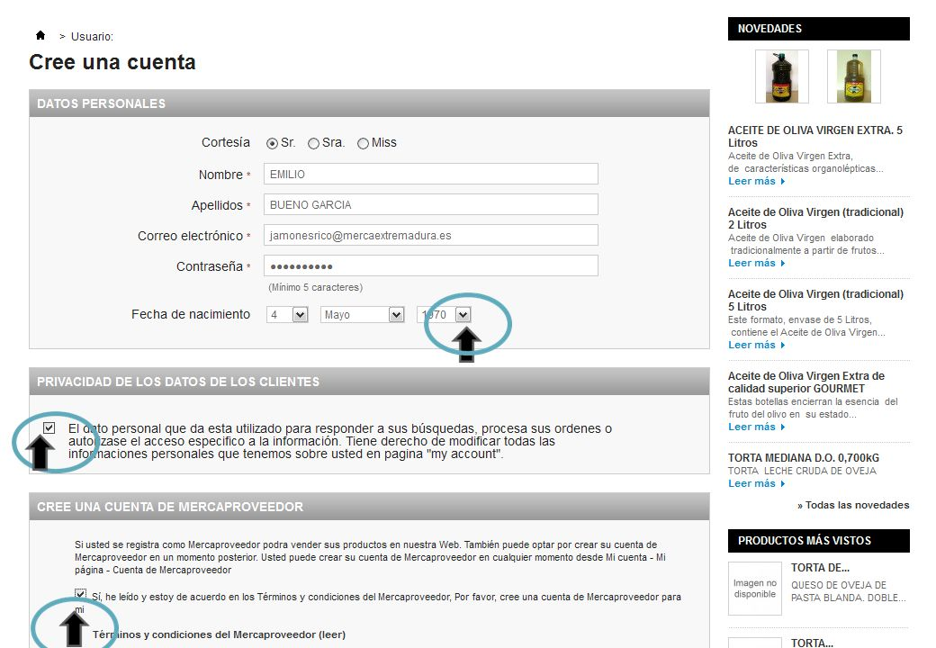 TUTORIAL PARA CONVERTIRSE EN MERCAPROVEEDOR * PASO 4: SE ABRE EL PANEL M I CUENTA.