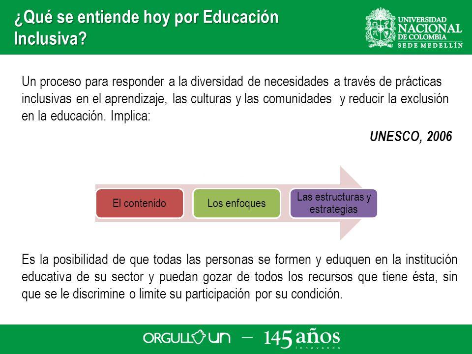 ¿Qué se entiende hoy por Educación Inclusiva? Un proceso para responder a la diversidad de necesidades a través de prácticas inclusivas en el aprendiz