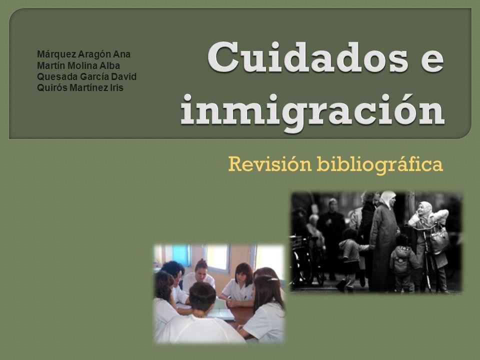 Revisión bibliográfica Márquez Aragón Ana Martín Molina Alba Quesada García David Quirós Martínez Iris