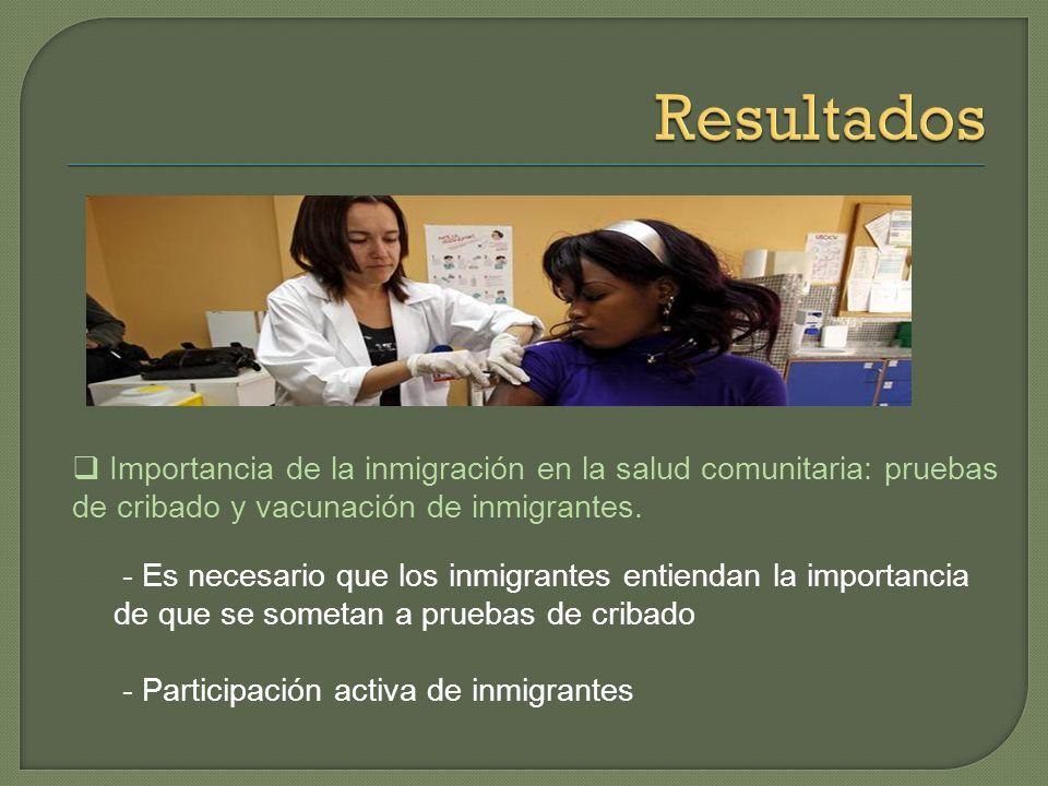 La población inmigrante y la realidad de la atención sanitaria - Alteraciones emocionales y problemas de seguimiento de los casos en inmigrantes - Dem