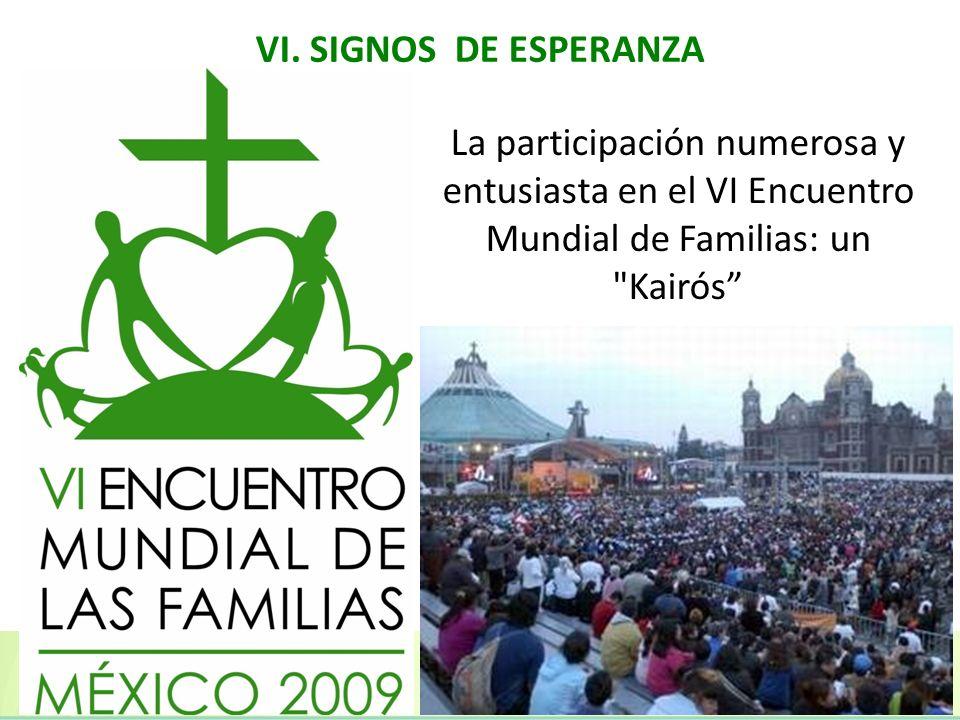 La participación numerosa y entusiasta en el VI Encuentro Mundial de Familias: un