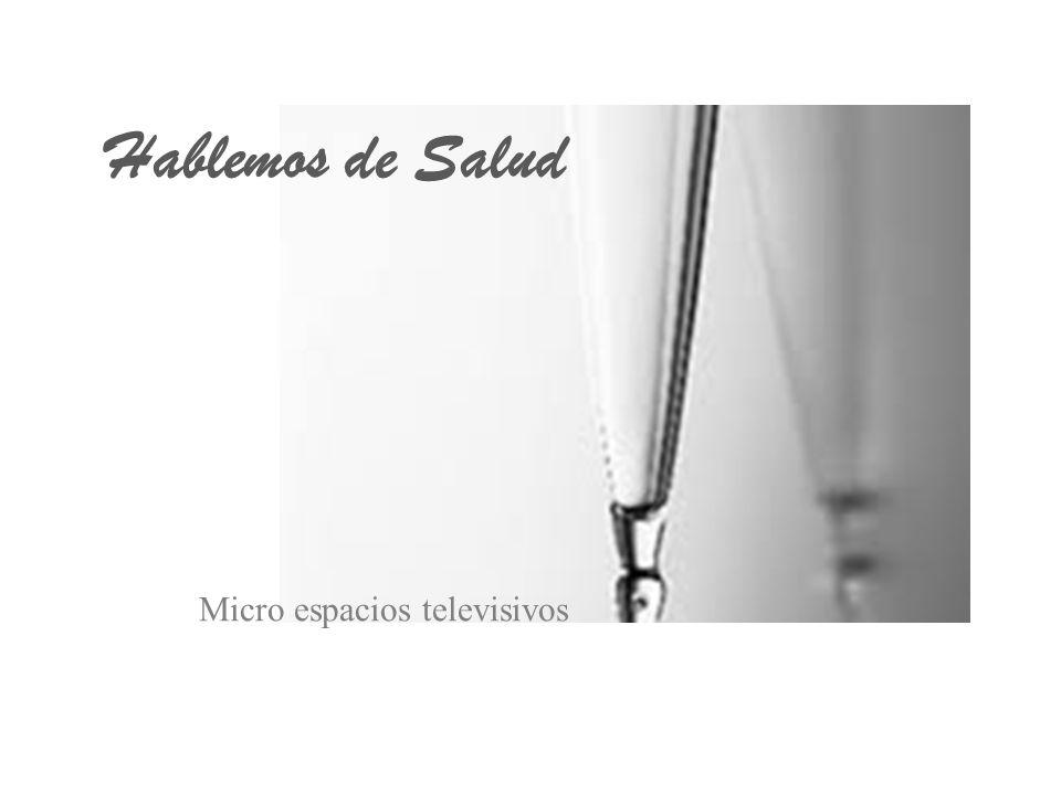 DATOS GENERALES GÉNERO – Micro espacio televisivo de divulgación científica.
