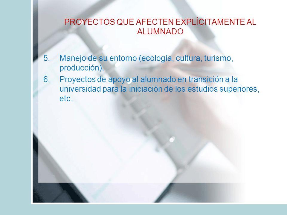 5.Manejo de su entorno (ecología, cultura, turismo, producción).