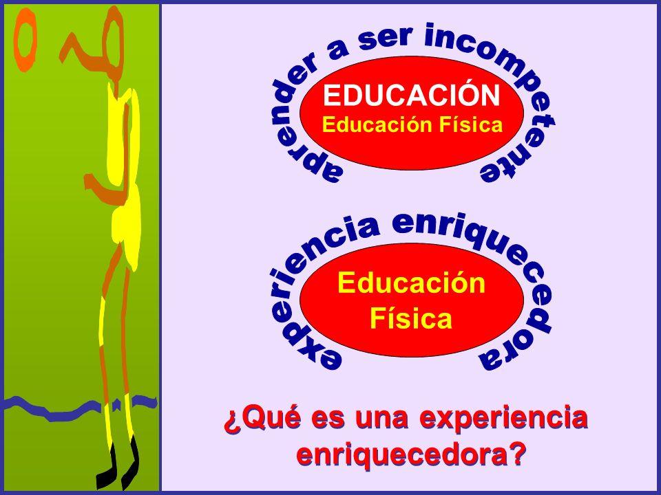 EDUCACIÓN Educación Física Educación Física ¿Qué es una experiencia enriquecedora? ¿Qué es una experiencia enriquecedora?