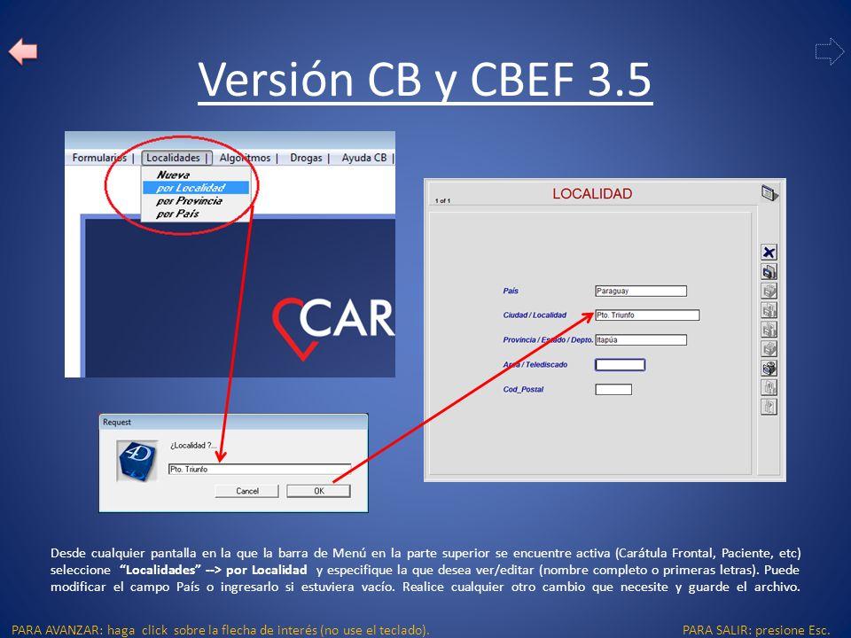 PARA SALIR: presione Esc.PARA AVANZAR: haga click sobre la flecha de interés (no use el teclado).