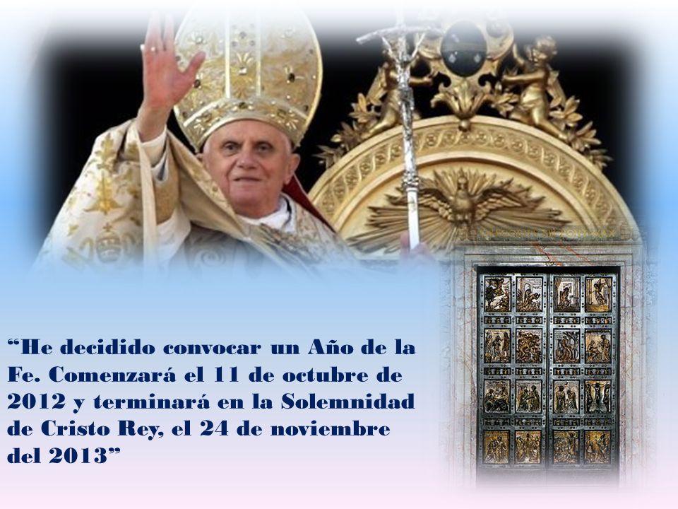 La Puerta de la Fe, que introduce en la vida de comunión con Dios, y permite la entrada en su Iglesia, está siempre abierta para nosotros.
