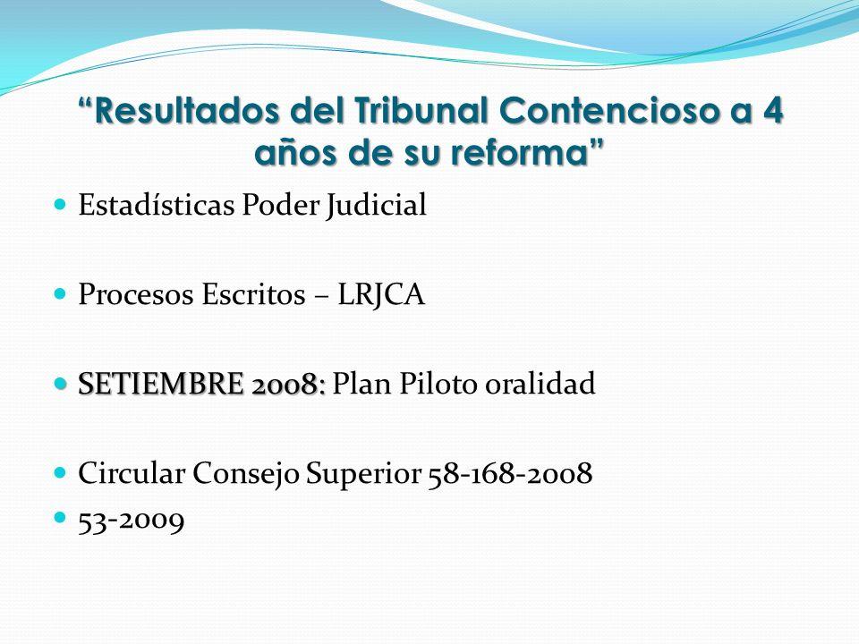 Resultados del Tribunal Contencioso a 4 años de su reforma Estadísticas Poder Judicial Procesos Escritos – LRJCA SETIEMBRE 2008: SETIEMBRE 2008: Plan