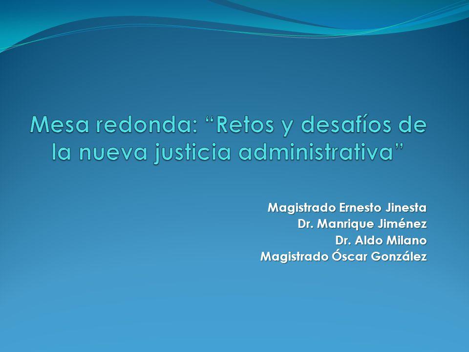 Magistrado Ernesto Jinesta Dr. Manrique Jiménez Dr. Aldo Milano Magistrado Óscar González