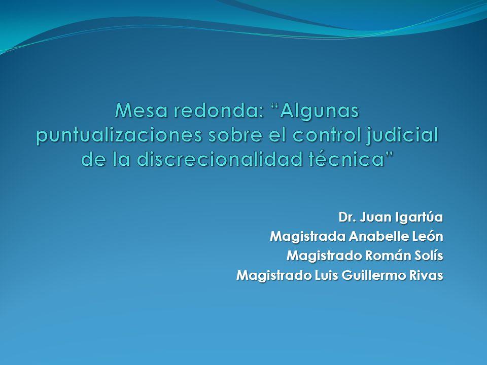 Dr. Juan Igartúa Magistrada Anabelle León Magistrado Román Solís Magistrado Luis Guillermo Rivas