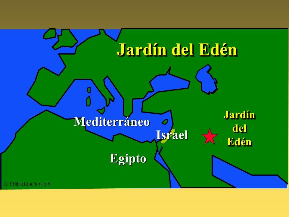 Garden of Eden © EBibleTeacher.com Mediterráneo Egipto JardíndelEdénJardíndelEdén Jardín del Edén Israel