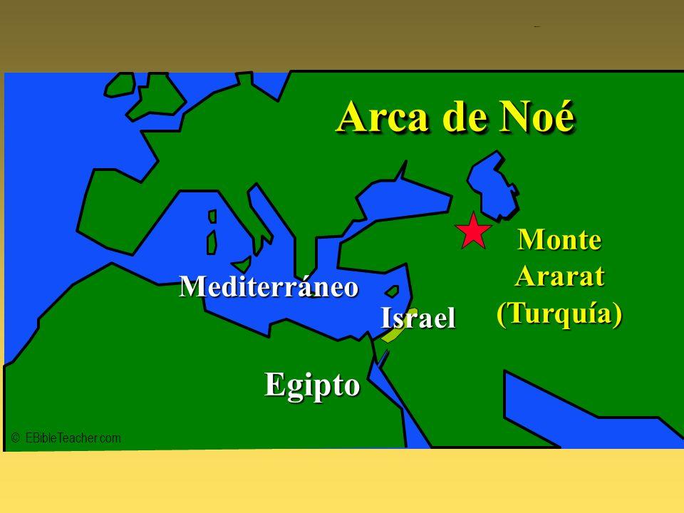 Noahs Ark 1 © EBibleTeacher.com Mediterráneo Egipto MonteArarat(Turquía) Arca de Noé Israel