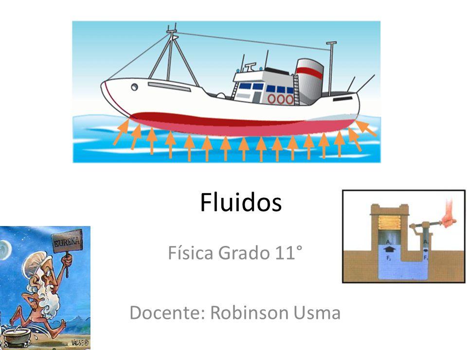 Fluidos Física Grado 11° Docente: Robinson Usma