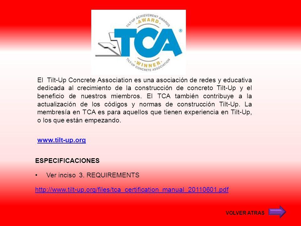 www.tilt-up.org El Tilt-Up Concrete Association es una asociación de redes y educativa dedicada al crecimiento de la construcción de concreto Tilt-Up