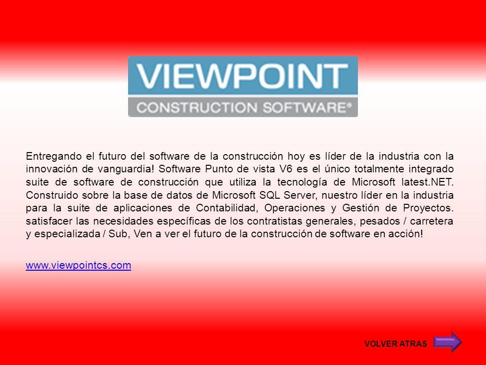 Entregando el futuro del software de la construcción hoy es líder de la industria con la innovación de vanguardia! Software Punto de vista V6 es el ún