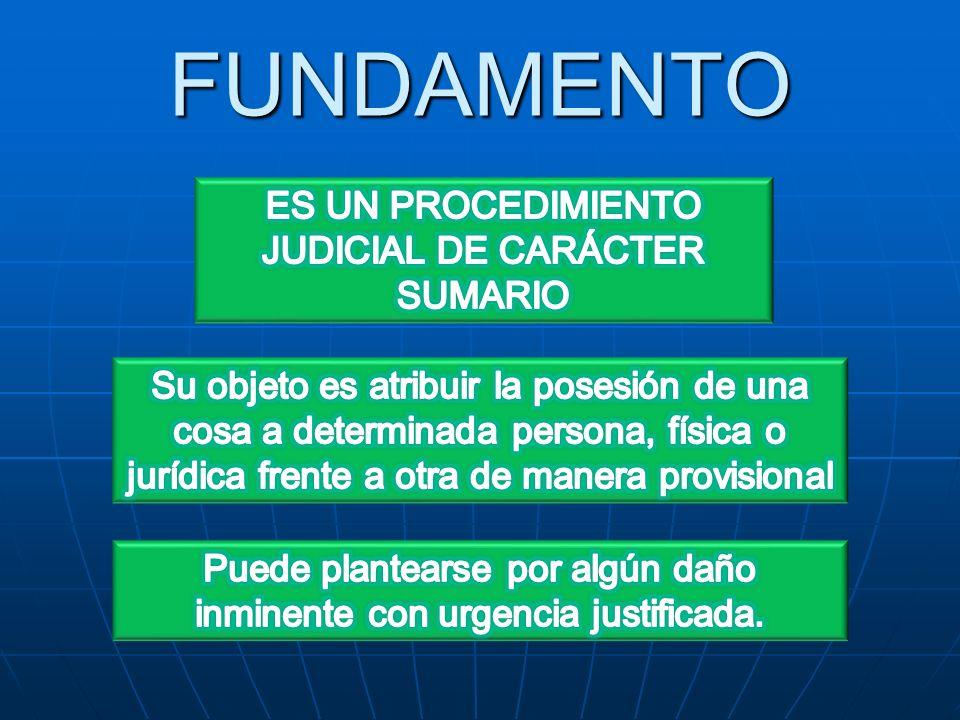 PROCEDIMIENTO Presentada la demanda, el juez inmediatamente debe admitir la acción y abrir en la misma resolución el plazo probatorio de ocho (8) días.
