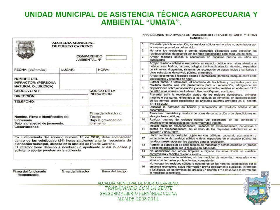 UNIDAD MUNICIPAL DE ASISTENCIA TÉCNICA AGROPECUARIA Y AMBIENTAL UMATA.