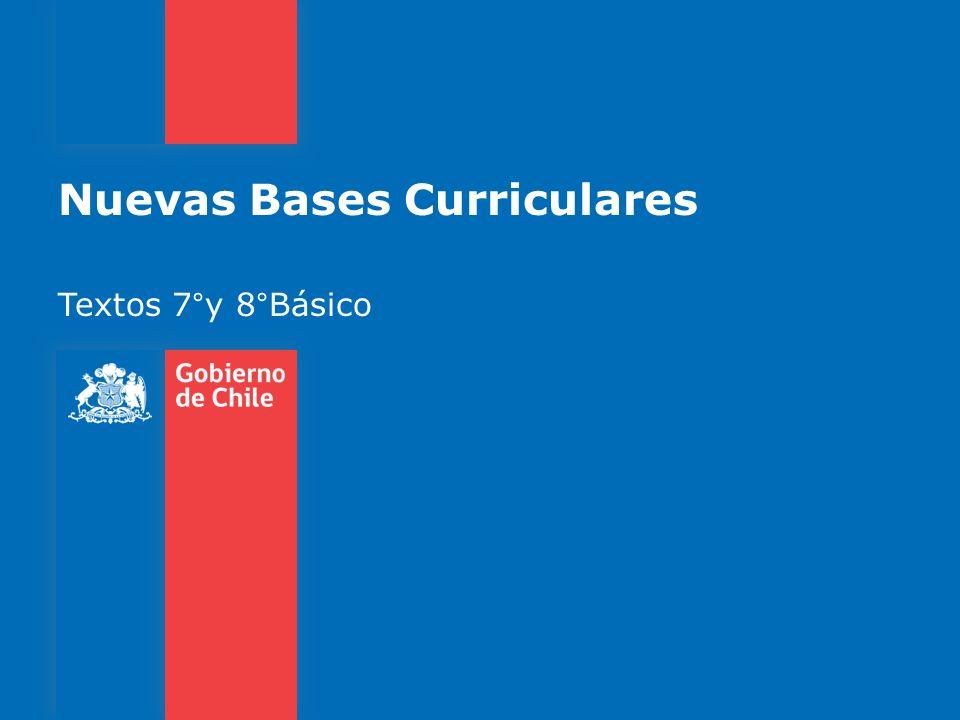 Nuevas Bases Curriculares Textos 7°y 8°Básico