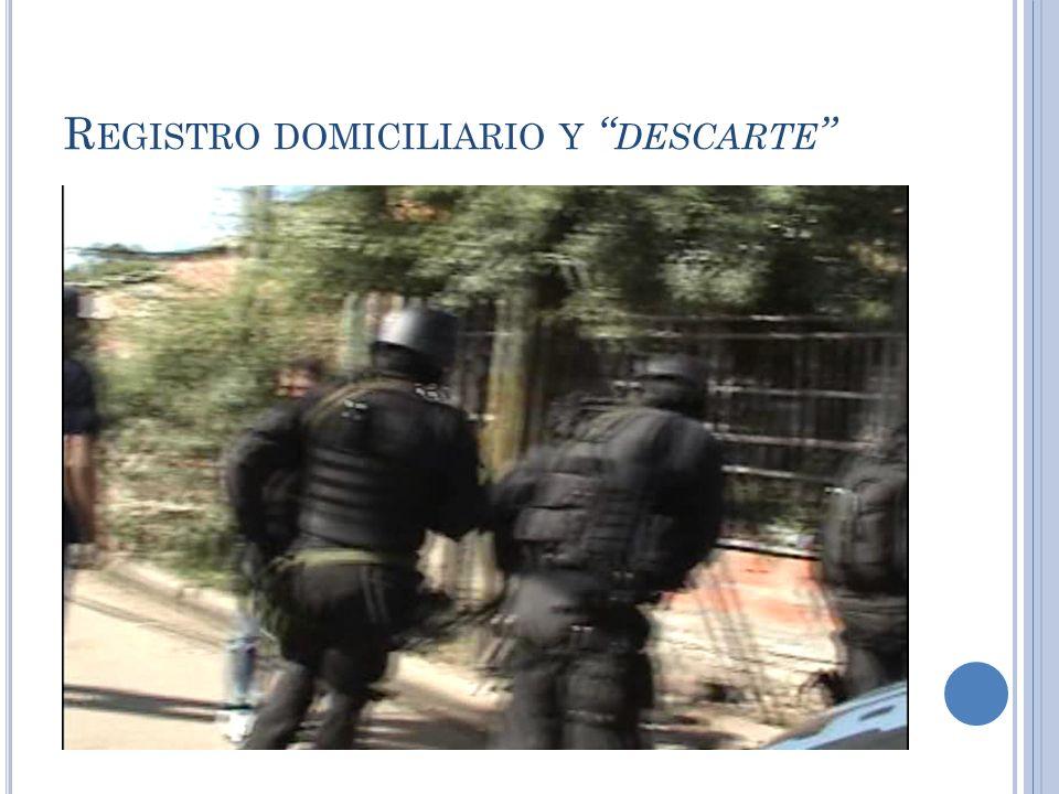 R EGISTRO DOMICILIARIO Y DESCARTE