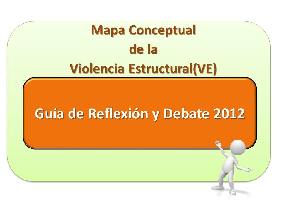 Guía de Reflexión y Debate 2012 Guía de Reflexión y Debate 2012 Mapa Conceptual de la Violencia Estructural(VE)