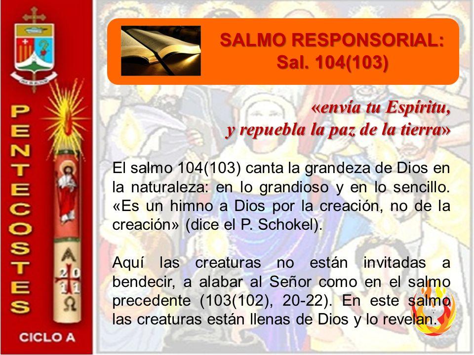 PRIMERA LECTURA: Hch. 2, 1-11 «Se llenaron todos de Espíritu Santo y empezaron a hablar» El relato de los Hechos de los Apóstoles sobre la venida del