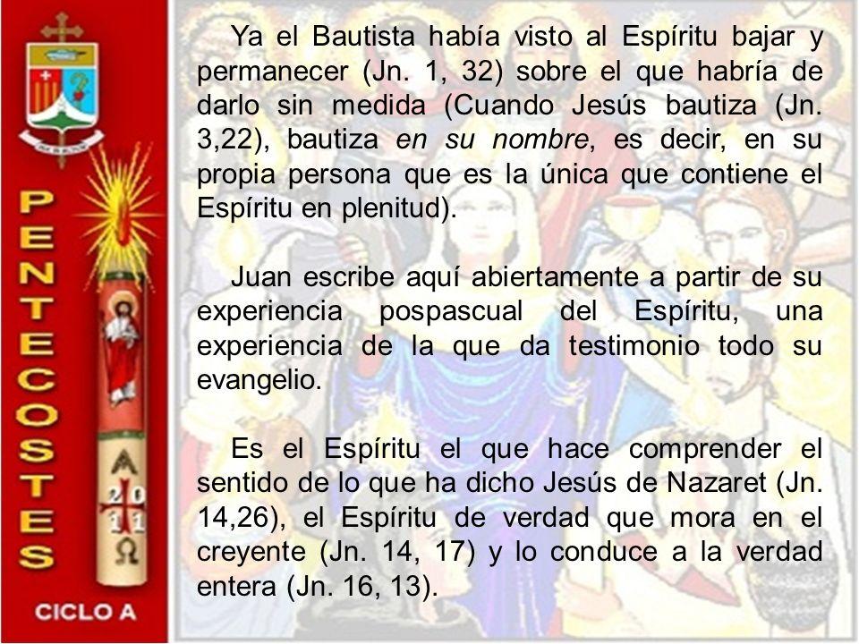 El mismo san Juan hace el comentario de las palabras de Jesús. Los torrentes de agua significan el Espíritu Santo que se dará a los que crean en Jesús