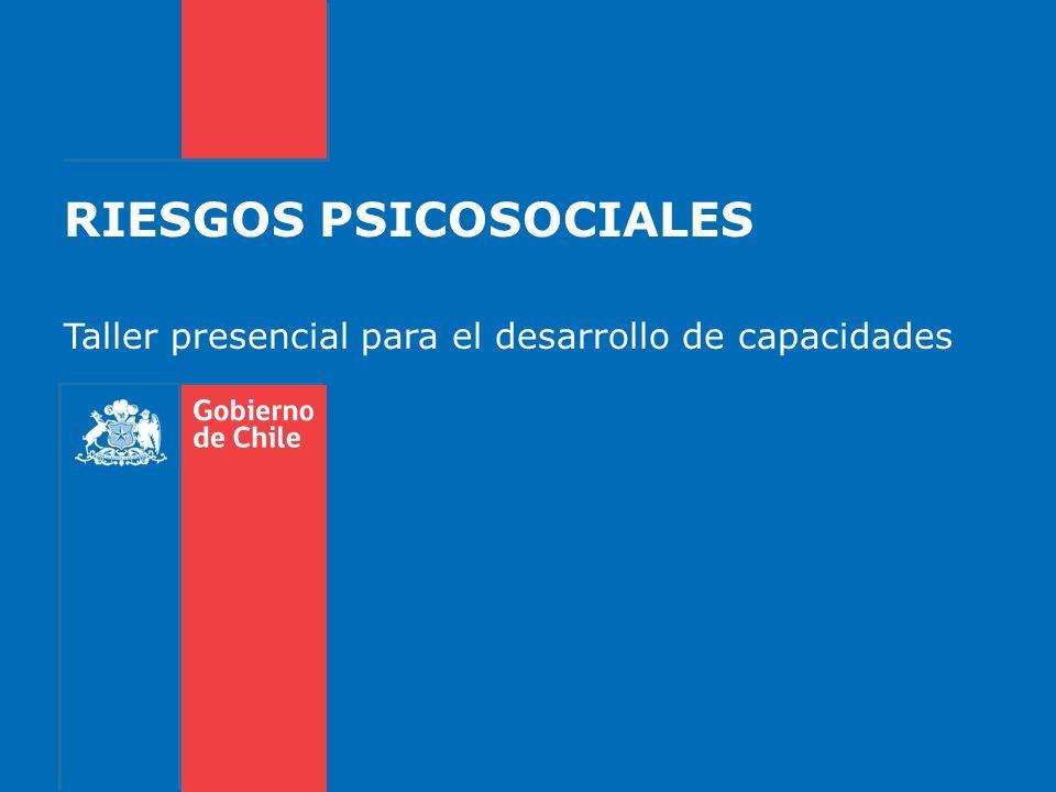 RIESGOS PSICOSOCIALES Taller presencial para el desarrollo de capacidades