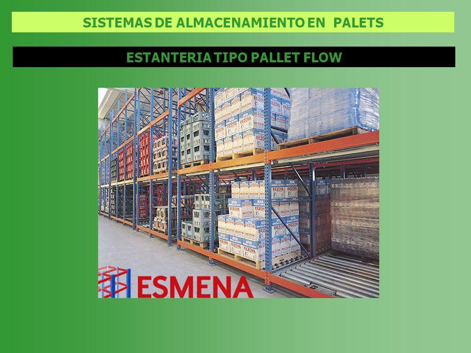 SISTEMAS DE ALMACENAMIENTO EN PALETS ESTANTERIA TIPO PALLET FLOW