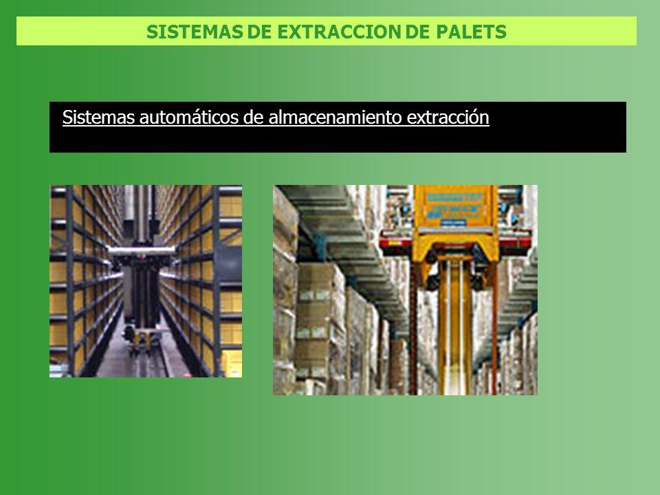 SISTEMAS DE EXTRACCION DE PALETS Sistemas automáticos de almacenamiento extracción