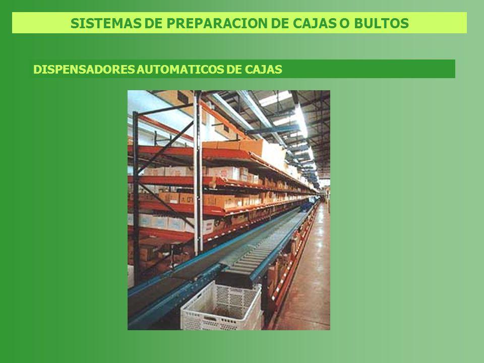 SISTEMAS DE PREPARACION DE CAJAS O BULTOS DISPENSADORES AUTOMATICOS DE CAJAS
