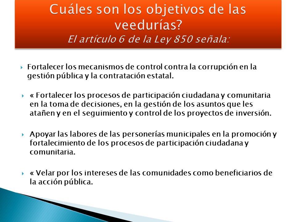 Fortalecer los mecanismos de control contra la corrupción en la gestión pública y la contratación estatal.